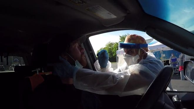 St. Clair County Health Department offers drive-through COVID-19 testing.