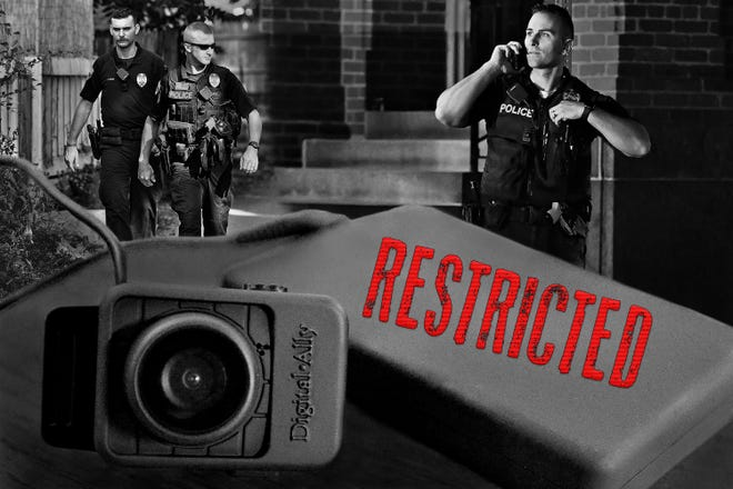 Police body cam photo illustration/graphic Tuesday, June 9, 2020. Dawn J. Sagert photo illustration/graphic