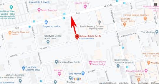 Jacobs Entertainment meminta agar kota Reno meninggalkan sebagian Ralston St. antara West Fourth dan West Third Streets untuk proyek Neon Line-nya.