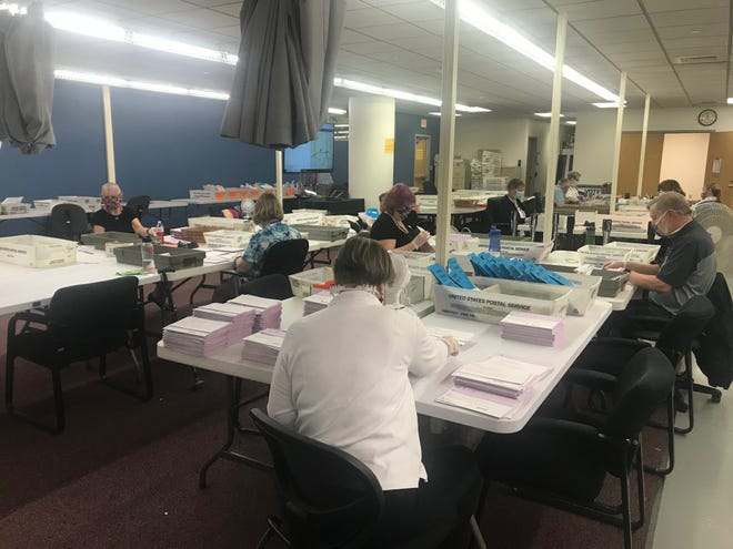 Ballots being counted at the Washoe County Registrar of Voters office on Tuesday, June 9, 2020, primary election day.