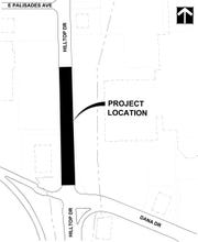Construction is planned Sunday through Tuesday (June 14-16, 2020) along Hilltop Drive in Redding.