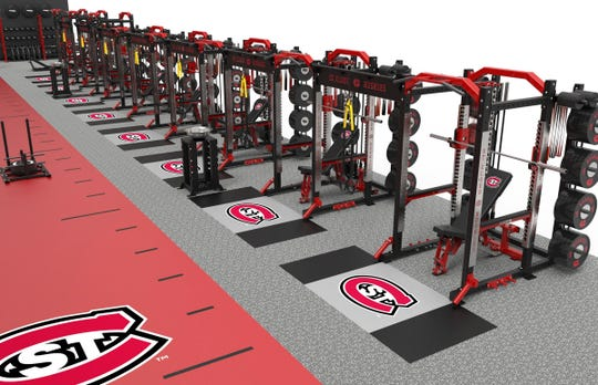 Plans for the updated Halenbeck Hall Strength and Conditioning Center at St. Cloud State show much-needed updates to equipment.