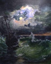 """Artist Adam Spaeth painted """"Lost at Sea"""" during the COVID-19 pandemic in Minnesota in spring 2020."""