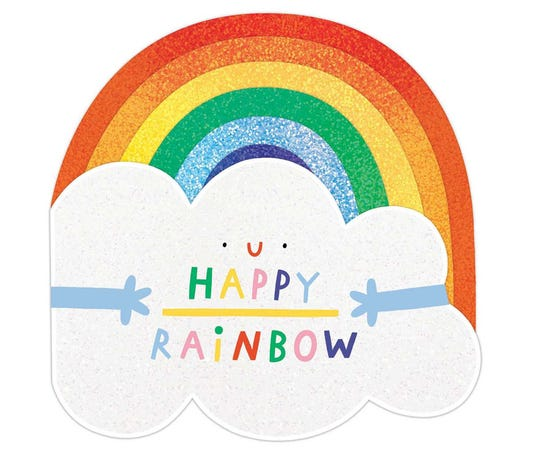 """Happy Rainbow""by Hannah Eliot, illustrated by Susie Hammer"