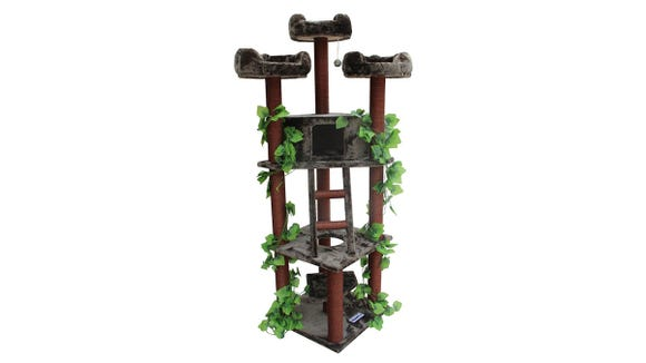 This forest-themed cat tree is a must-have for adventurous kitties.