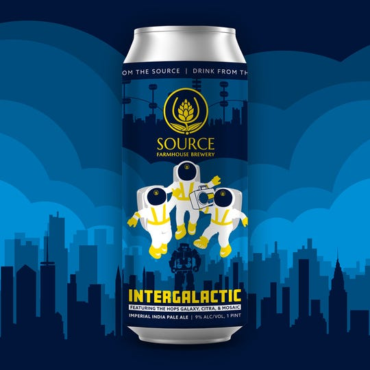 Intergalactic, the Beastie Boys-inspired India Pale Ale from Source Farmhouse Brewery in Colts Neck, launched the brewery's Artist Tribute Series in May.