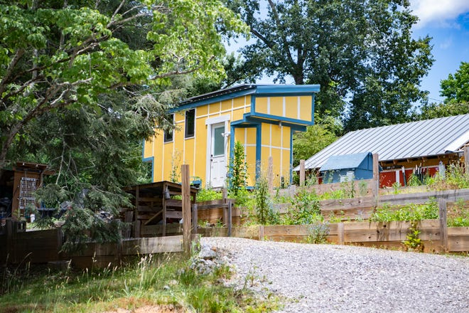 Buncombe County does have some tiny homes, but not nearly as many as Henderson County. This file photo shows a tiny home in the future DIY Tiny development in East Asheville. Tiny homes are legal in Buncombe, but they have to meet state building codes.