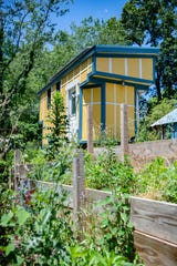A currently unoccupied tiny home sits on the property that will one day be DIY Tiny in East Asheville. The plan for the community is toÊhold 16 400-square foot tiny homes, all built around communal space.