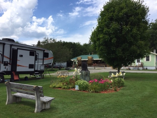 A lone RV at the Moose River Campground in Saint Johnsbury.