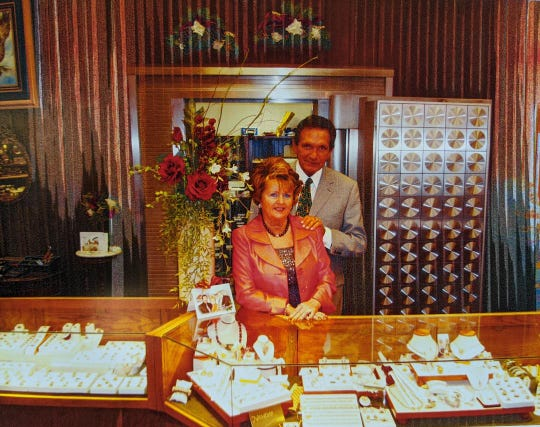 Johnnie and Elke Gilreath at Golden Eagle Jewelry