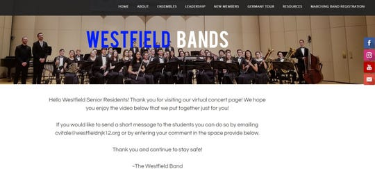 Westfield High School band students created a special virtual concert for seniors residents after COVID-19 prevented the students from performing in person.