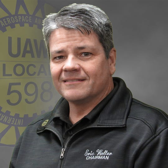 UAW Local 598 Shop Chairman Eric Welter. He represents the 5,000 hourly workers at General Motors Flint Assembly plant where the automaker builds its heavy-duty pickups.