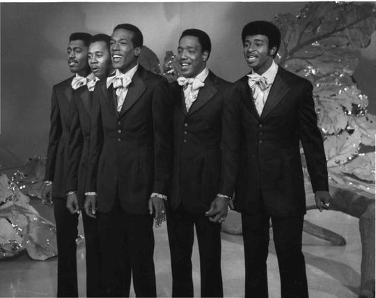 "The Temptations perform ""I Can't Get Next to You"" on ""The Ed Sullivan Show"" on Sept. 28, 1969."