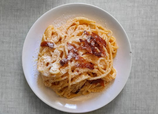 Spaghetti carbonara, with just four main ingredients, is a dish beginning cooks can make at home.