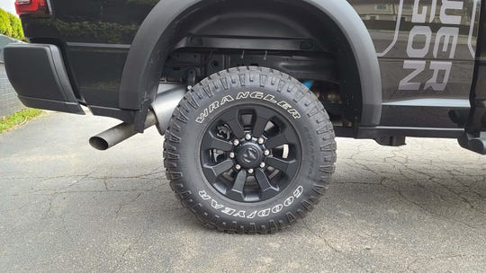 Big 33-inch tires help take the 7,000-pound 2020 Ram 2500 Power Wagon off asphalt.