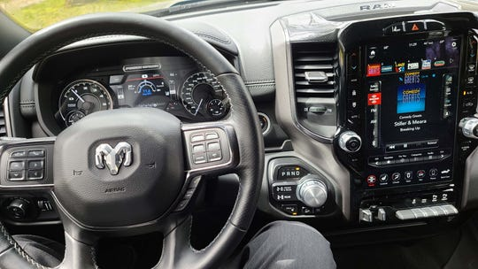 The 2020 Ram 2500 Power Wagon is full of goodies like 12-inch screen, rotary shifter, and adaptive cruise control on the steering wheel.