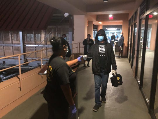 The Republic of Palau creates a simulation of repatriation arrival protocols at the Palau International Airport. 58 Palau citizens will be brought back to Palau this week.