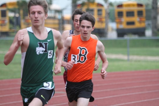 Brighton's Zach Stewart (3) has personal records of 4:20.41 in the 1,600 and 9:18.38 in the 3,200.