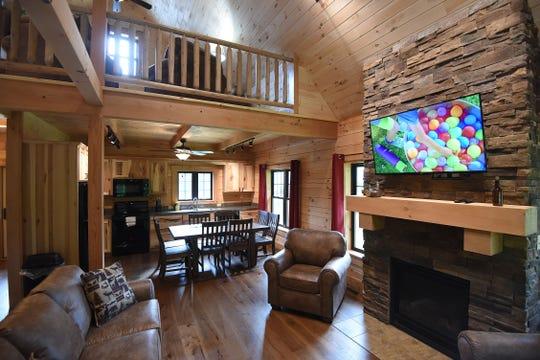 The interior of Cabin No. 7 at Pleasant Hill Lake Park.
