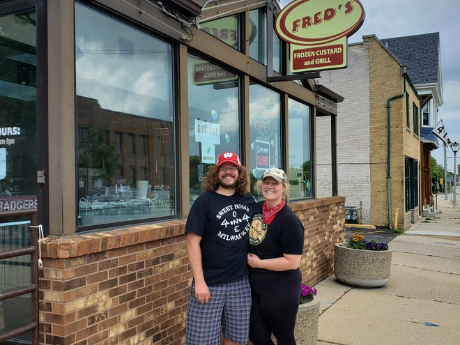Alex Ogden (left) and Sam Kassel-Ogden are the new owners of Fred's Frozen Custard and Grill. They also own FourOneFour Events.