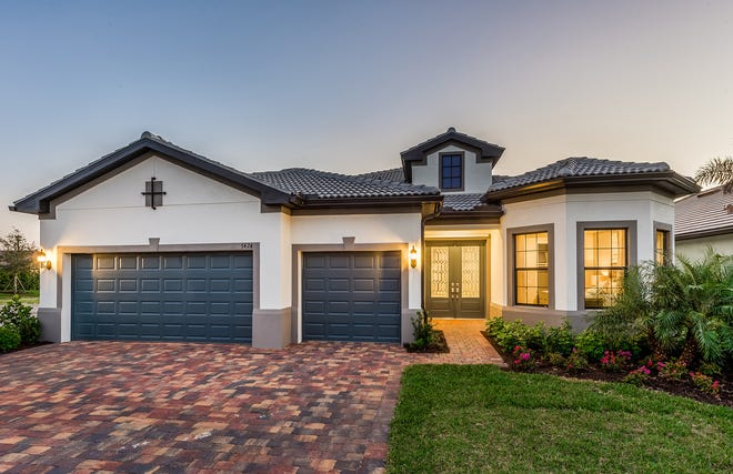 Avalon Park model home Stonewater by Pulte Homes in Ave Maria.