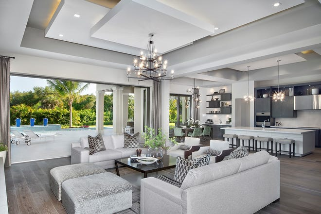 This unique luxury residence at Mangrove Bay, is a collaboration between CDHome and McGarvey Custom Homes.