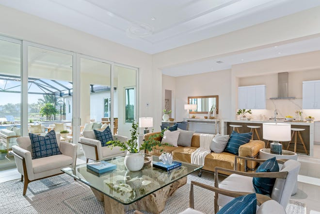 London Bay Home's 2,963-square-foot Langston model offers three bedrooms, three baths and an expansive outdoor living space in the Cabreo neighborhood.