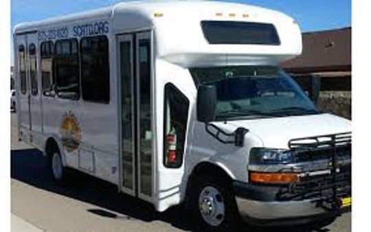 """The South Central Regional Transit District will roll out a new """"on-call"""" bus service in July."""