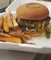 Green chile cheeseburger from El Jacalito Restaurant,2215 Missouri Ave.