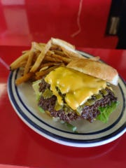 Green chile cheeseburger from Jake's Cafe,1340 E. Lohman Ave.