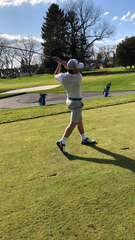 CC senior Connor Krzywiecki takes a swing at the Diamond Springs Junior Open.