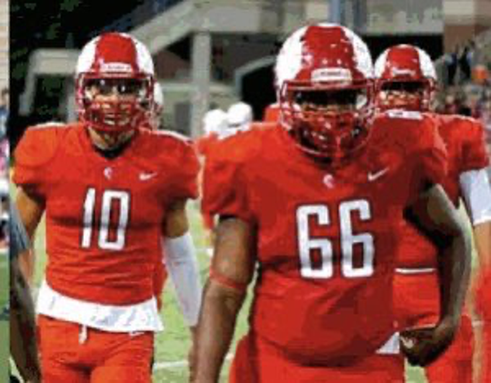 Jayden Henderson will move from Katy, Texas to Livonia to play on the offensive line for Madonna.