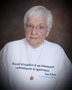 Jane Elliott is an educator and longtime activist against racial prejudice.