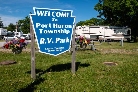 Motorhomes begin to fill Port Huron Township RV park Tuesday, June 9, 2020. The park reopened June 8 after being closed as a result of the coronavirus pandemic.