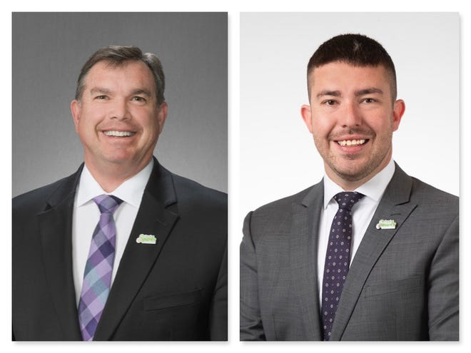 Paul Anderson, left, and Donald Abbott lead in their respective races for Sparks City Council.