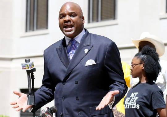 Attorney James Carter of The Cochran Firm, spoke with media Wednesday, June 19, 2020, outside the Caddo Parish Courthouse concerning the death of 44-year-old Tommie McGlothen Jr. McGlothen reportedly died while in police custody in April 2020.