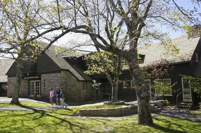 Exterior of Big Meadows Lodge at Shenandoah National Park.