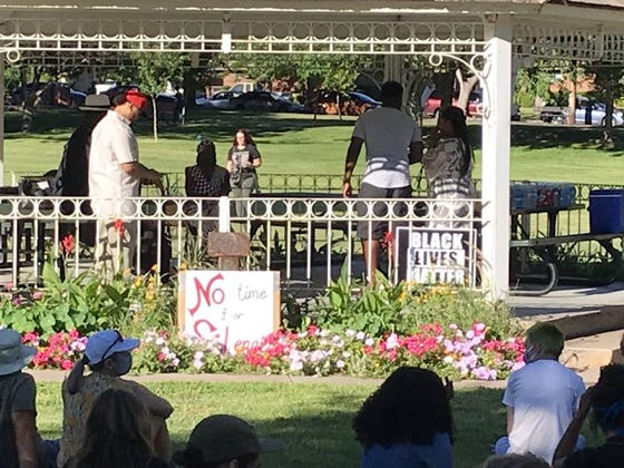 A large crowd gathered late Tuesday at Vernon Worthen Park in St. George for a vigil in the name of George Floyd, the black man who was killed by a white police officer in Minneapolis on Memorial Day, prompting widespread protests and demonstrations across the U.S. demanding reform in law enforcement.