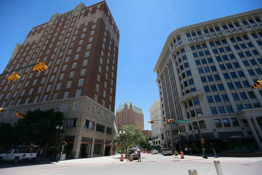 The renovated Plaza Hotel Tuesday, June 9, in downtown El Paso. The Plaza Hotel which first opened during the Great Depression, is scheduled to reopen June 17 after extensive renovation.