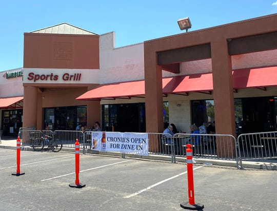 Cronies Sports Grill locations opened for limited dine-in service May 21 in Ventura (pictured), Camarillo, Newbury Park and Simi Valley. The Agoura Hills site is now also open for limited seating indoors and outside.