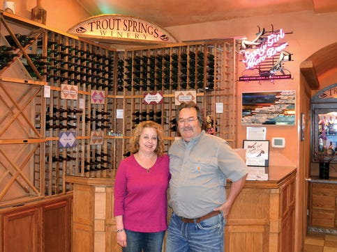 Owners Steve and Andrea DeBaker started Trout Springs Winery in 1995 and believe that by creating diversity at their farm will give them more opportunity to succeed.