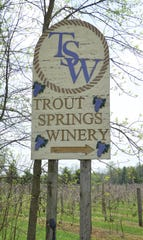 Trout Springs Winery in Greenlead, Wis., is a licensed trout hatchery and vineyard.