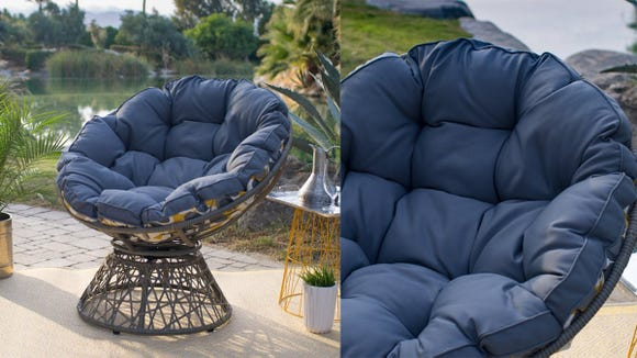 This chair is a stand-out piece, but still super cozy.