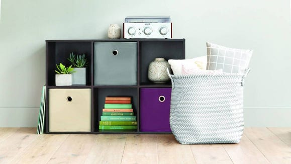 Declutter any space with these handy cubbies.