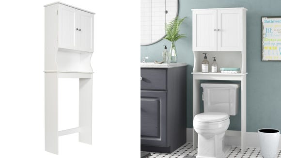 There's no need to break the bank for more bathroom storage.
