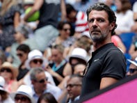 In a  Jan. 15, 2019 file photo, Serena Williams' coach Patrick Mouratoglou watches her first round match at the Australian Open.