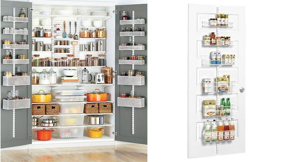 Maximize pantry space with these Elfa storage solutions.