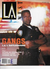 Author Erroll G. Southers on the cover of the September 1990 issue of LA West magazine when he was on the Santa Monica Police Department Gang Unit.