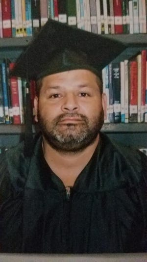 Juan Escobedo received his GED in 2017, while he was in prison, said his wife, Emily Escobedo. This photo was taken at Pam Lyncher State Jail in Humble, Texas. (Photo/ Provided by Emily Escobedo)