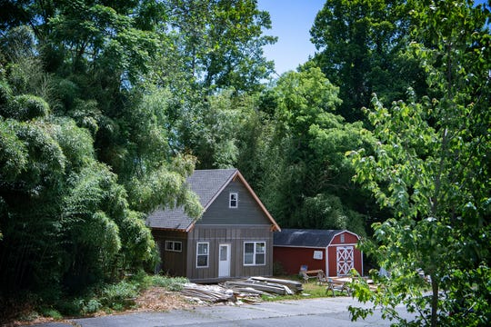 """Land for the future site of the BeLoved Asheville Village, a community of 12 """"deeply affordable homes"""" was donated by Land of the Sky United Church of Christ in East Asheville and sits adjacent to one of their parking lots."""